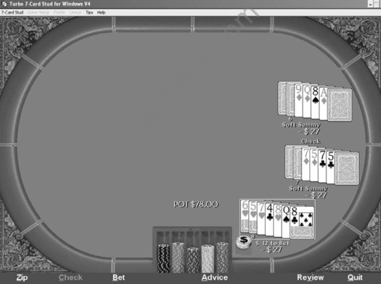 Playing the River in Seven-Card Stud